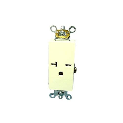 Leviton Brown Decora COMMERCIAL Receptacle Single Outlet 6-20R 20A 16441 Boxed