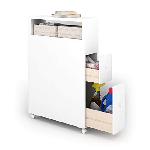 Tangkula Bathroom Storage Cabinet, Narrow Bathroom Floor Cabinet With Drawers