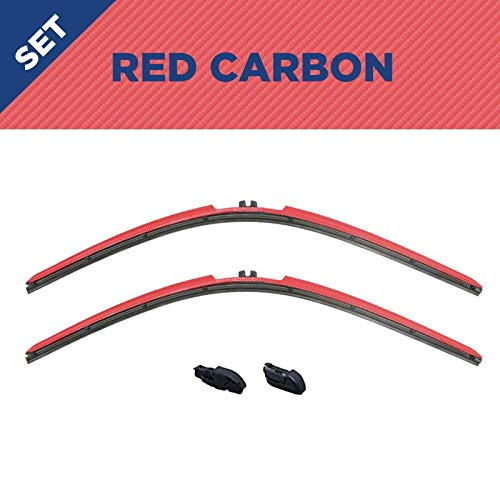 Buy Clix Wipers Red Carbon Fiber Truck Wiper Blades Clip On Replacement Windshield Wipers For Toyota Tundra 2000 2006 All Weather Pickup Wiper Blade Set 18 18 Online In Indonesia B08r6dl1xx