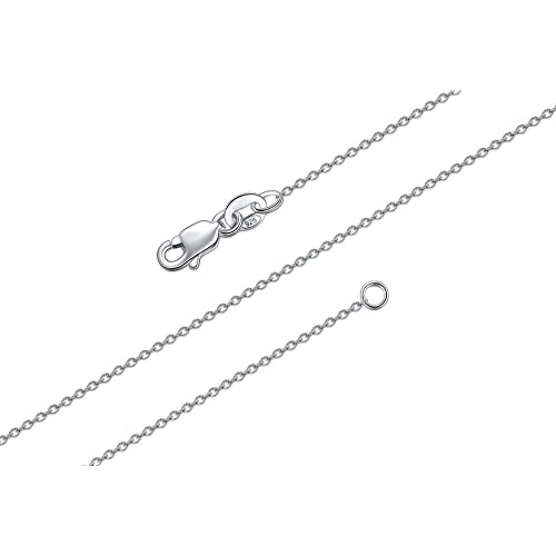 18 inch 2mm Solid 925 Sterling Silver Round Cable Chain Necklace-Silver Chain