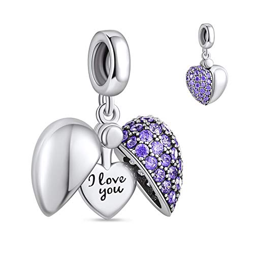Buy Ningan I Love You Dangle Charm For Pandora Charms Bracelet Mothers Day Birthday Gifts For Women Heart Pendant Bead Cubic Zirconia For Necklace In 925 Sterling Silver Online In Indonesia