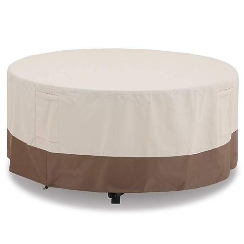 Phi Villa Round Patio Furniture, Round Patio Furniture Covers With Umbrella Hole
