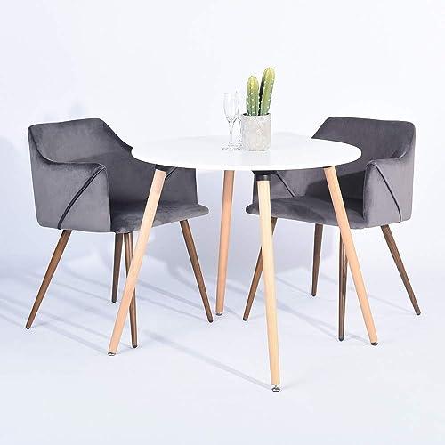 Homy Casa Modern Velvet Dining Room, Velvet Dining Room Chairs