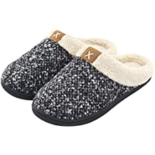 2bd9d1035 Women s Cozy Memory Foam Slippers Fuzzy Wool-Like Plush Fleece Lined House  Shoes w