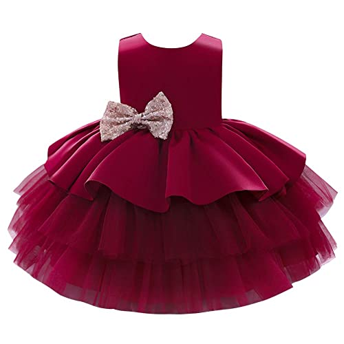 Kids Infant Baby Girl Bowknot Tulle Formal Wedding Party Princess Tutu Dress UK