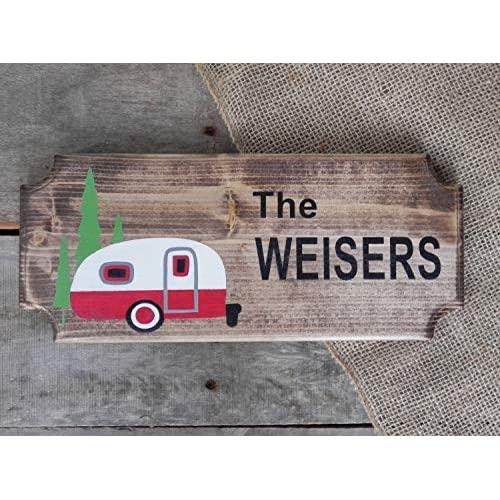 Campsite Decor RV Decor Campsite Signs Camper Sign Camper Gifts Camping Decor Camping Rules Sign Large Wood Camping Signs RV Signs