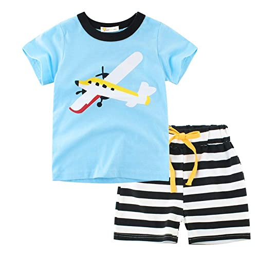 Details about  /Baby Boys Summer Dinosaur Pajamas Outfit Sleepwears Cartoon Tops Shorts Set 2-7T