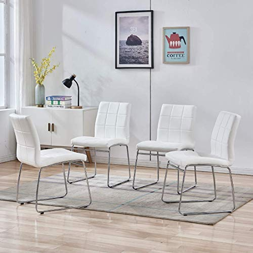 Dining Room Chairs Set Of 4 Modern, Patterned Living Room Chairs