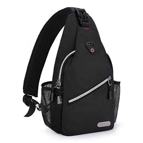 MOSISO Mini Sling Backpack,Small Hiking Daypack Pattern Travel Outdoor Sports Bag National Style