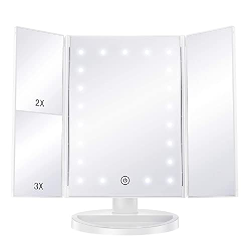 Bestope Makeup Mirror With Lights, Black Vanity Set With Light Up Mirror