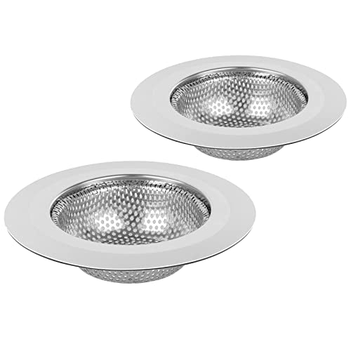 """5 Pcs 4.5/"""" Stainless Steel Large Wide Rim Sink Strainer for Kitchen Drain Basket"""