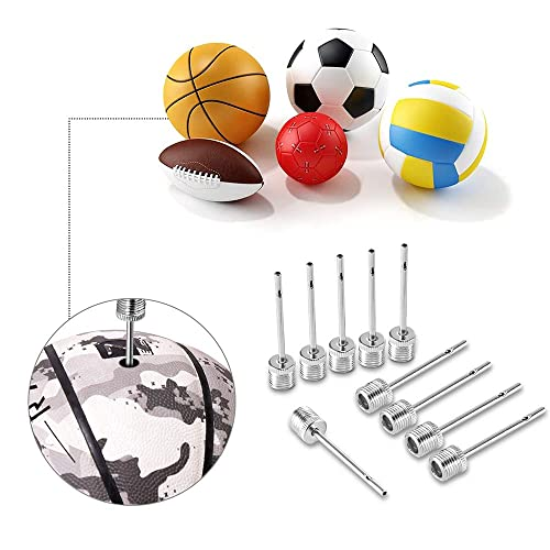 SAVITA 30 Pieces Ball Pump Needle Ball Inflation Needle Made with Stainless Steel Soccer Ball Baseball Volleyball and Other Sports Balls Air Pump Needles for Basketball