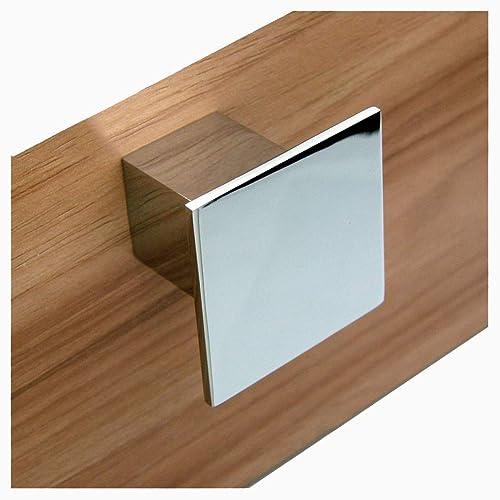 5PCs Modern Kitchen Cabinet Cupboard door Drawer Handles Pulls Knobs chrome