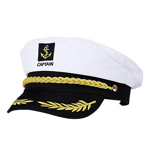 1 Adult Yacht Captains Sailing Cap  Hat