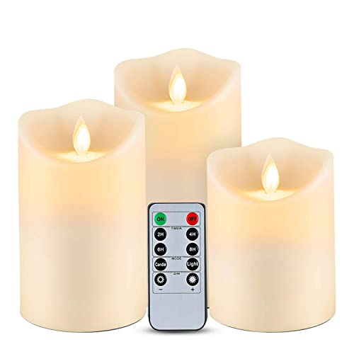 Homemory Waterproof Flickering, Outdoor Flameless Candles With Remote