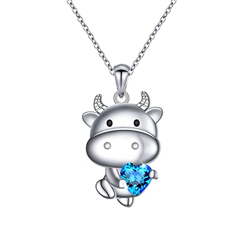 NEW S925 Sterling Silver Moon /& Cat CZ Necklace Pendant For Fashion Women VOROCO