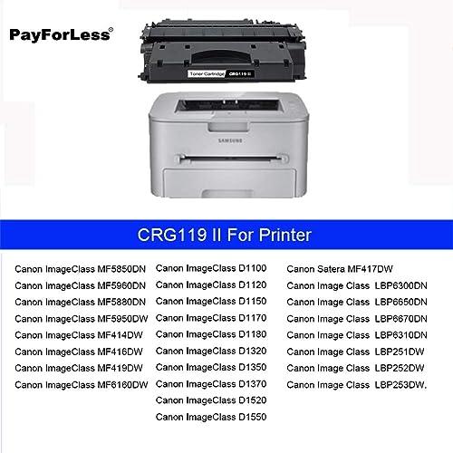 4PK CRG119 Toner Cartridge For Canon ImageClass LBP6300dn LBP6650dn LBP6670dn