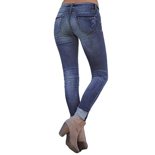 2b33934edd2baf PrevNext. PrevNext. Dokotoo Womens Basic Distressed Jeans Long Slim Casual Destroyed  Skinny Jean Pants