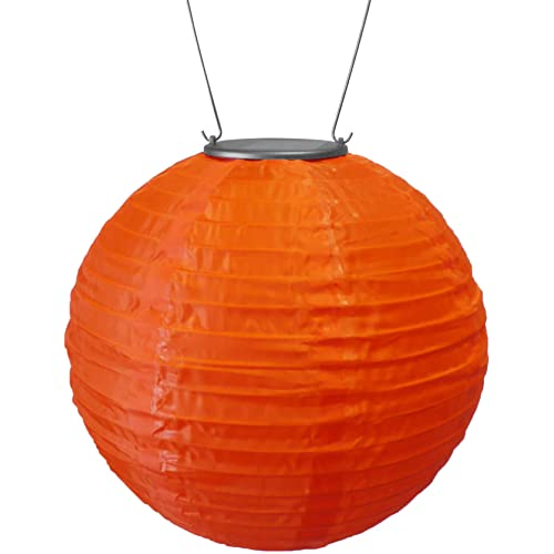 Round Led Outdoor Solar Lantern, Allsop Home And Garden Solar Lantern