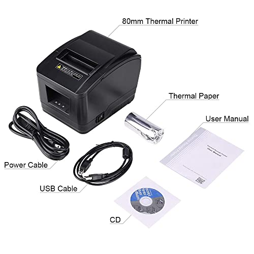 Buy MUNBYN USB 3'1/8 80mm Thermal Receipt Printer Pos