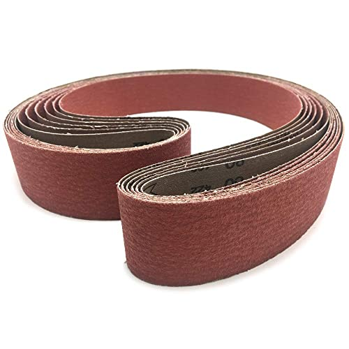 2 X 72 Inch 80 Grit Metal Grinding Ceramic Sanding Belts 6 Pack