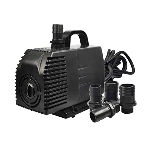 Little Giant 505005 5 MSP 1//6 HP 1200 GPH Submersible or In Line Utility Pump