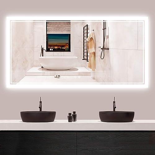 Tokeshimi 48 X 24 Inch Led Backlit, Vanity Mirror Bathroom