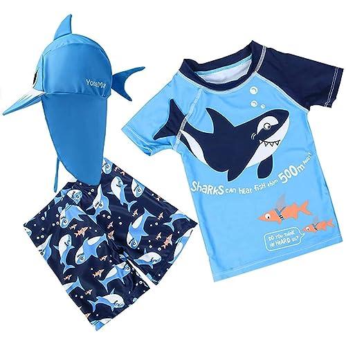 Kids Swimming Suit 3Pcs Swimsuit Boys Bathing Suit Swimwear Youth Beach Summer