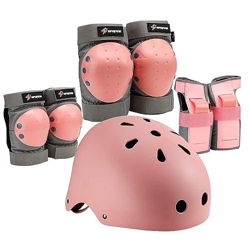 7 Set Kids Bicycle Cycling Adjustable EVA Vent Helmet Knee Wrist Guard Elbow Pad