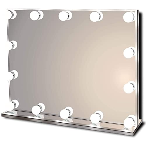 Hollywood Lighted Vanity Makeup, Vanity Dressing Table With Light Up Mirror