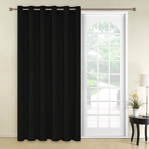 Blackout Curtain Grommet Top Room Darkening Window Drapes for Bedroom,1 Panel