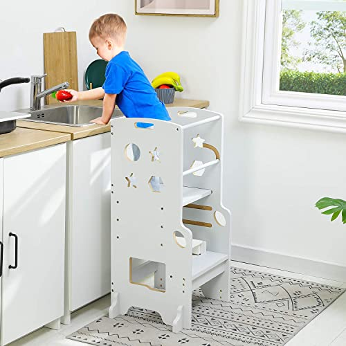 Buy Adorneve Kitchen Helper Stool For Kids Height Adjustable Toddlers Stool Kids Stool White Online In Indonesia B08w8b4hyz