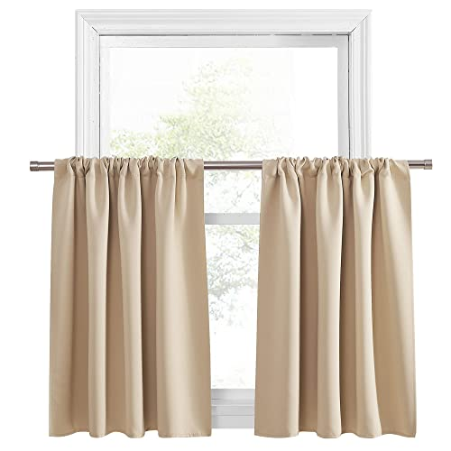 Buy Pony Dance Kitchen Curtains 36 Tiers Valances Blackout Window Drapes Thermal Insulated Blinds Matching With Curtain Panels 42 Width X 36 Length Biscotti Beige Set Of 2 Online In Indonesia B07md9vhzr