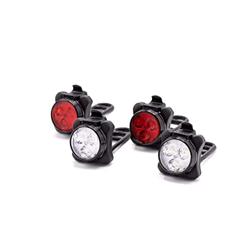 f86c5616d40 HOOOT 2 Sets USB Rechargeable LED Bike Light, 2 Super Bright Front Bicycle  Headlight 2