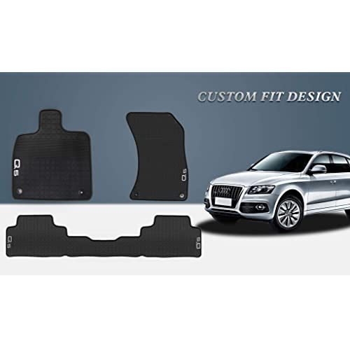 Car Floor Mats >> Hd Mart Car Floor Mat Rubber For Audi Q5 2018 2019 Custom Fit Black Auto Floor Mats All Weather Heavy Duty Odorless