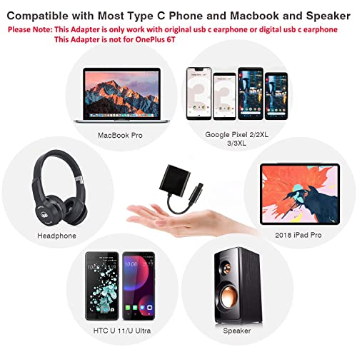 Essential Phone,Xiaomi and More USB C Devices Galaxy Note 10//10+ Not for Moto and OnePlus USB C to 3.5mm Headphone Adapter with Fast Charging Compatible for Pixel 3 3XL 2 2XL HTC iPad pro 2018