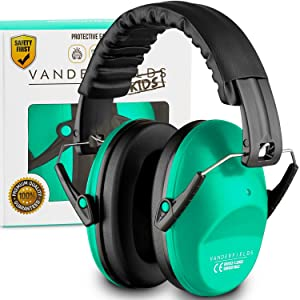 Earmuffs for Kids Toddlers Children - Hearing Protection Ear Defenders for Small Adults Women - Foldable