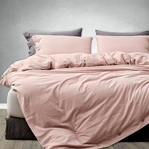 Melingo Blush Pink Cotton Duvet, What Color Goes With Blush Bedding