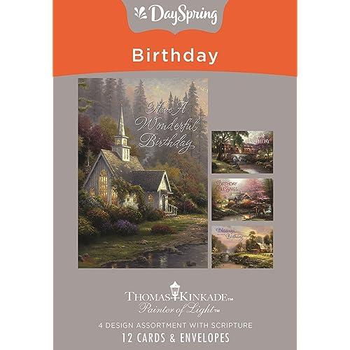 Buy DaySpring Birthday - Inspirational Boxed Cards - Thomas Kinkade - 70107  Online in Indonesia. B072KF5KG3