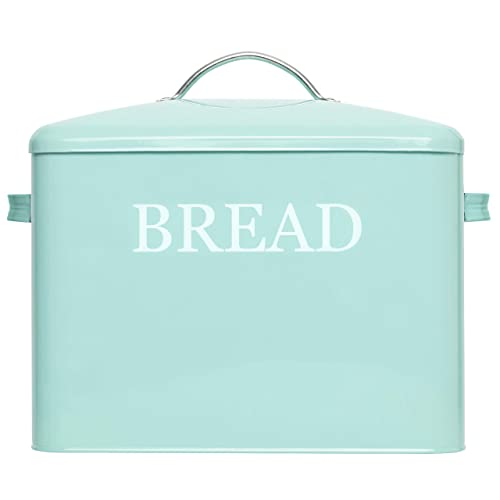 Buy Extra Large Bread Box Teal Bread Boxes For Kitchen Counter Holds 2 Loaves For All Your Bread Storage Bread Container Counter Organizer To Suit Farmhouse Kitchen Decor Vintage Kitchen