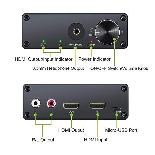 Tendak 4K Automatic HDMI Splitter Switch 4 Port HDMI Switcher 4 to ...