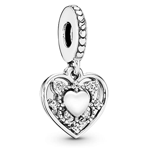 Buy Pandora Jewelry My Wife Always Heart Dangle Cubic Zirconia Charm In Sterling Silver Online In Indonesia B06zz9vf2d
