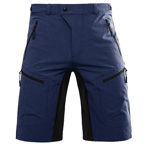 Mountain Bike MTB Shorts Biking Pants with Zip Pockets Cycling Apparel for Men