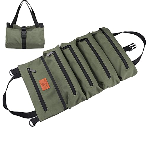 Multipurpose Canvas Roll Up Organizer Tool Bag Waterproof Storage Pouch 6A