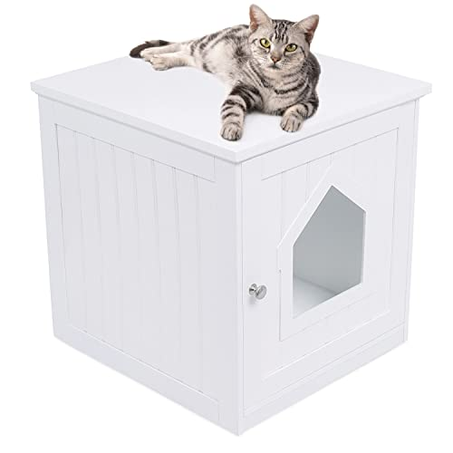 Buy Internet S Best Decorative Cat House Side Table Cat Home Nightstand Indoor Pet Crate Litter Box Enclosure Online In Indonesia B06xfk8dyb