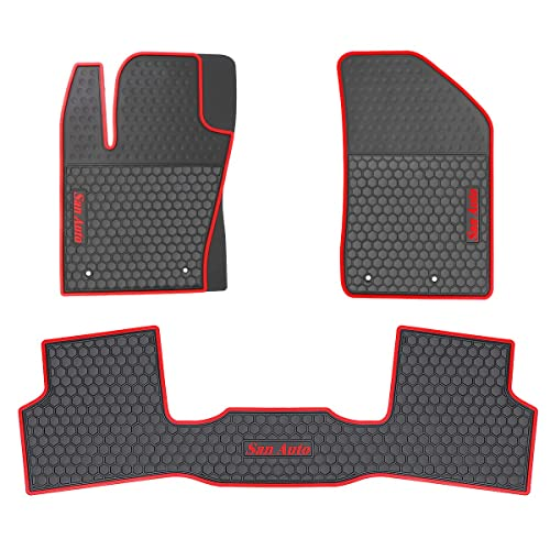 Car Floor Mats >> Hd Mart Car Floor Mats Custom Fit For Jeep Renegade 2016 2017 2018 2019 Black Red Rubber Car Floor Liners Set All Weather Protection Heavy Duty
