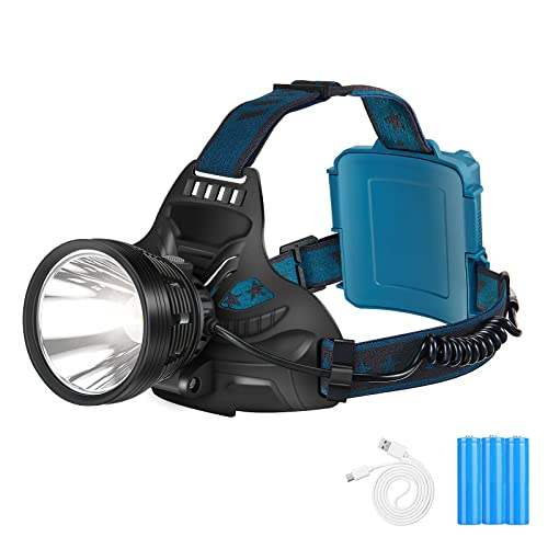USB Rechargeable 90000 Lumens Headlight LED Headlamp Tactical Head Torch Lamp
