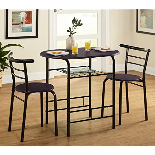 3 Piece Round Dining Room Table Set, Small Round Dining Table Set