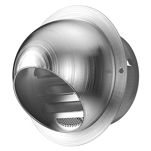 Wall Vent Outlet Air vent grille Nosed External 100mm//150mm Part Stainless Steel