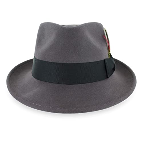 Belfry Crushable Dress Fedora Men/'s Vintage Style Hat 100/% Pure Wool in 6 Color